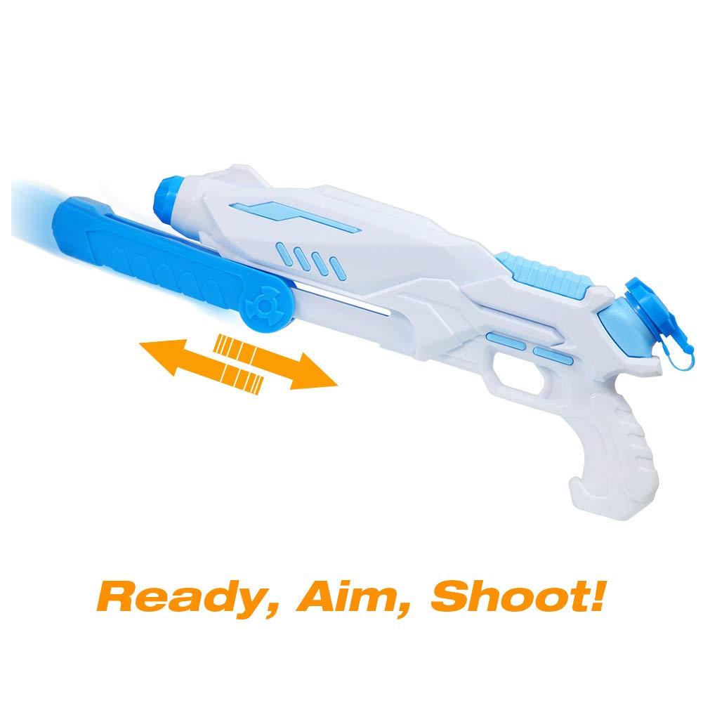 ThinkMax Wasserpistole Super Soaker Wasserpistole Spielzeug f/ür Kinder und Erwachsene mit gro/ßer Reichweite und Tank 670ml