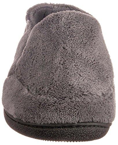 e20901984d6 ISOTONER Men s Terry Moccasin Slipper with Memory Foam for Indoor Outdoor  Comfort