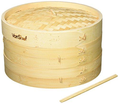 VonShef Inch Bamboo Steamer Chopsticks product image