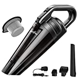 Handheld Cordless Vacuum LIBERRWAY Portable Handheld Cordless Vacuum Cleaner, Rechargeable Lightweight Cord Free for Home Car Pet Hair Cleaning Wet Dry with Stainless Steel Filter – Black Review