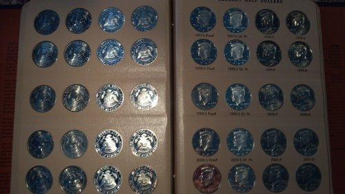 1 P, D, S, S 1964-2011 Kennedy Half Dollar Set in Dansco Album 158 Coins. Uncirculated, Proof