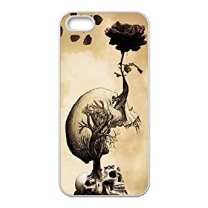 Skull Unique Fashion Printing Phone Case for Iphone 5,5S,personalized cover case ygtg556986 by icecream design