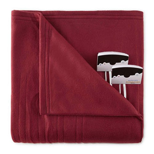 PURE PLANT HOME Pure Warmth by Biddeford Fleece Electric Heated Blanket King Red