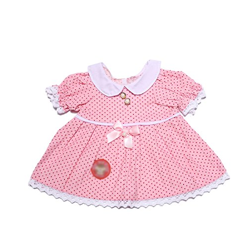 YaToy Bear Outfit Dress Stuffed Animal Cloth Doll Bundle Fit 15-16 inch Girl Toy Pink -