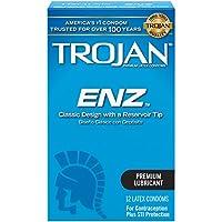 Trojan Condom ENZ Lubricated, 12 Count