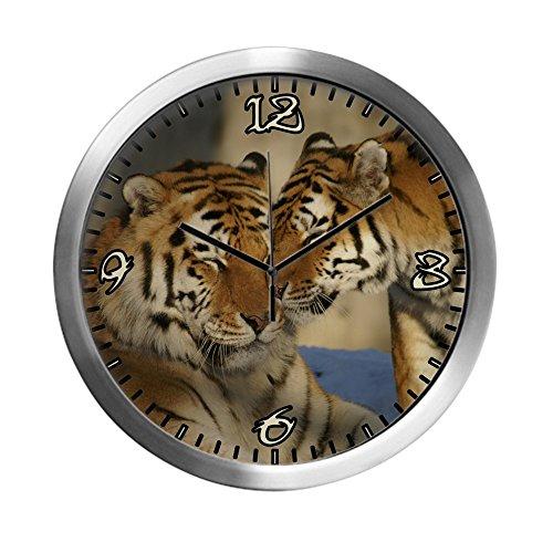 (Modern Wall Clock Nuzzling Tiger Love)