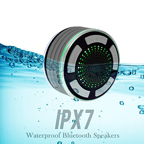 Bluetooth Speakers Basspal Ipx7 Portable Wireless Waterproof Speaker With Fm Radio And Led Mood