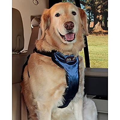 Solvit PetSafe Deluxe Car Safety Dog Harness, Adjustable Crash-Tested Dog Harness, Car Safety Seat Belt Tether Included by Amazon.com, LLC *** KEEP PORules ACTIVE ***