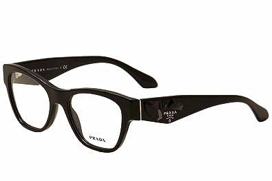 9fda6052fc Amazon.com  Prada PR07RV Eyeglasses-1AB 1O1 Black-51mm  Shoes
