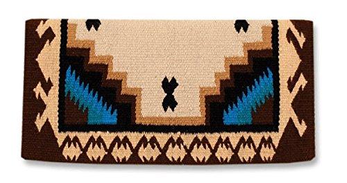 Mayatex Haymaker Saddle Blanket, Chestnut/Sheepskin/Umber/Turquoise, 38 x ()