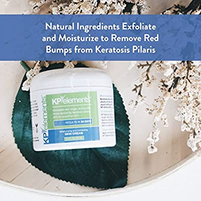 KP Elements Keratosis Pilaris Treatment Cream - Keratosis Pilaris Cream for Arms and Thighs - Clear up Red Bumps Today by Combining Our KP Cream and Body Scrub