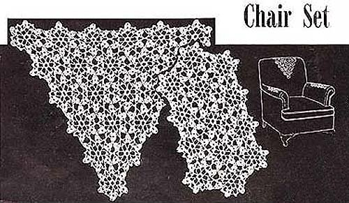 Lacy Medallions Vintage Crochet Chair Set Pattern EBook Download