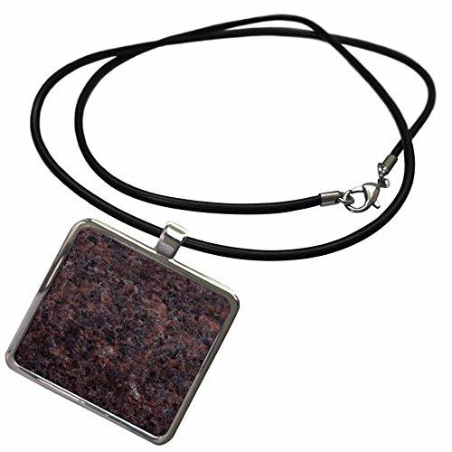 Granite Dakota Mahogany (3dRose ToryAnne Collections Granite - Dakota Mahogany Granite Print - Necklace with Rectangle Pendant (ncl_97945_1))