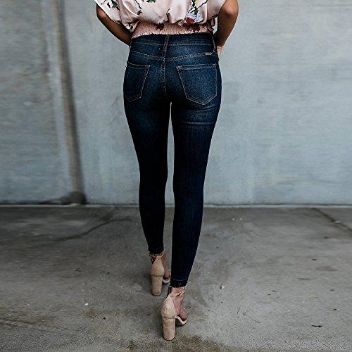 Slim Vestibilità Pantaloni Matita Jeans Cowboy Sexy Buco Celucke Blu Extra Skinny A Vita Alta skinny vSPwnTHqz