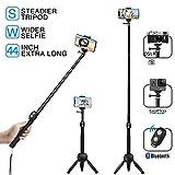 MEIDI Bluetooth Selfie Stick, Selfie Stick Tripod, 12-38 In Extendable Monopod With Wireless