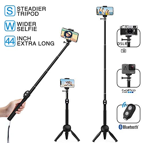 - MEIDI Bluetooth Selfie Stick, 12 -38 In Extendable Monopod With Wireless Remote Control, Waterproof Flexible Fashionable And Compatible With ALL Smart Phones & GoPro