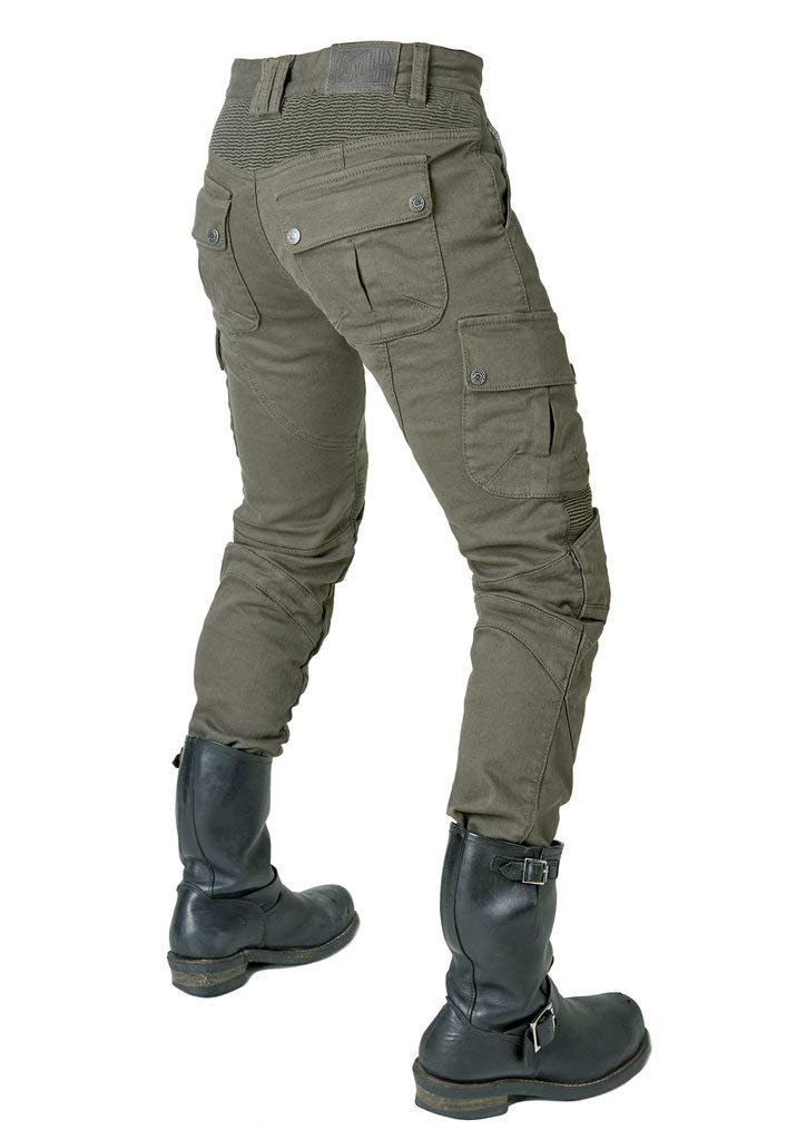 verde Jeans per Moto//Bici S- Waist 31.5 Pantaloni da Uomo per Moto Kevlar