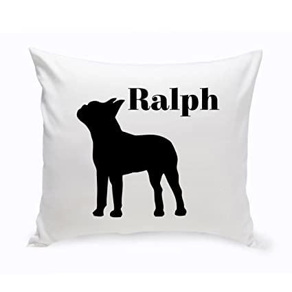 3c527a76387 Amazon.com   Personalized Silhouette Dog Throw Pillow   Pet Supplies