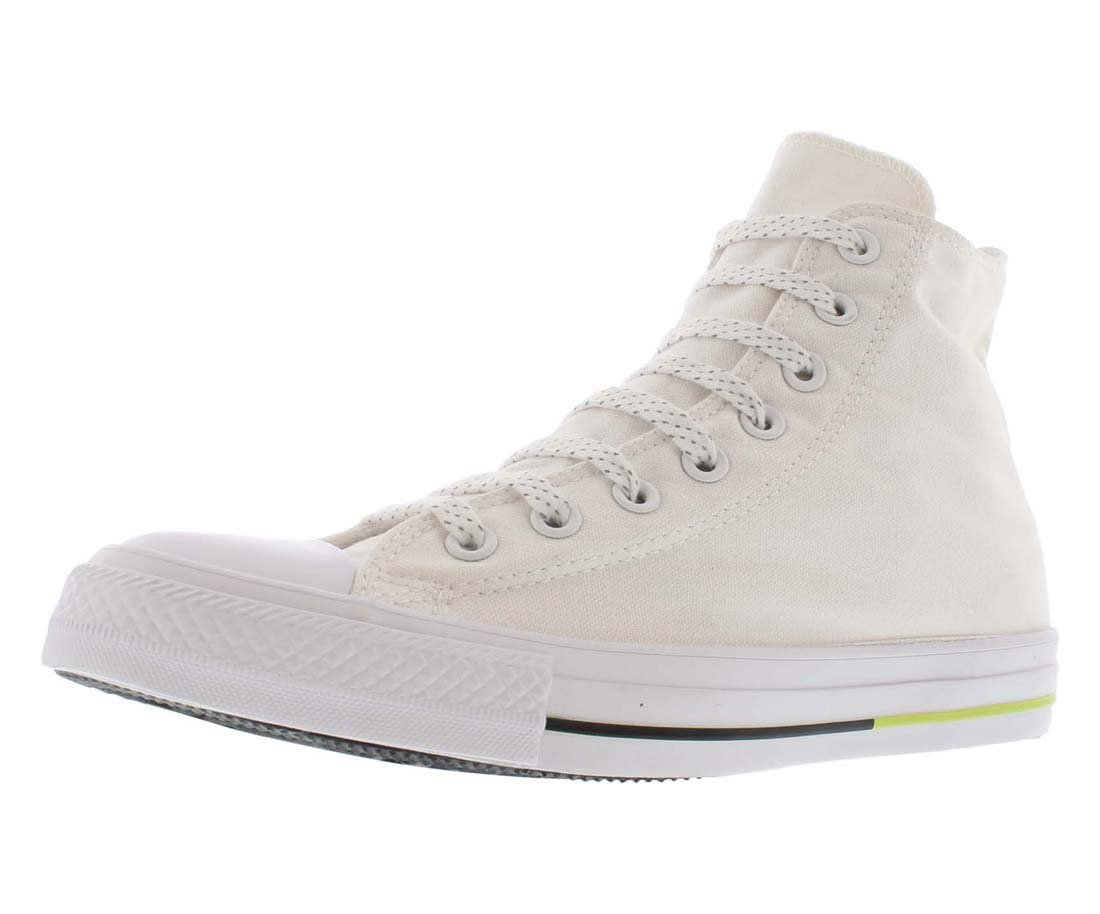 Converse AS Hi Can charcoal 1J793 Unisex-Erwachsene Sneaker  7 B(M) US Women / 5 D(M) US Men|White / Volt / Black