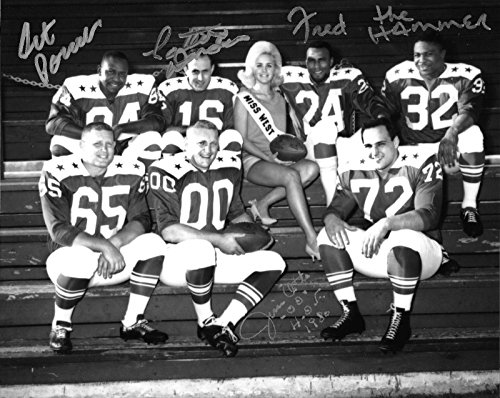 Jim Otto Fred Williamson Art Powell +1 Signed 1963 AFL Raiders Stars 8x10 Photo - Autographed NFL Photos