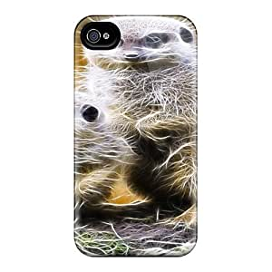 Iphone 4/4s Cover Case - Eco-friendly Packaging(meer The Cat)