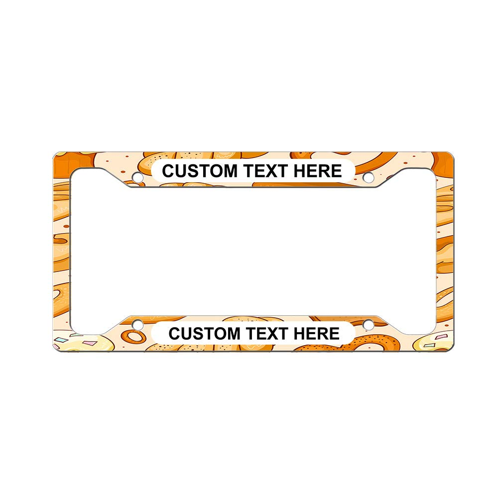 Fishing Pattern Auto Car License Plate Frame Tag Holder 4 Hole
