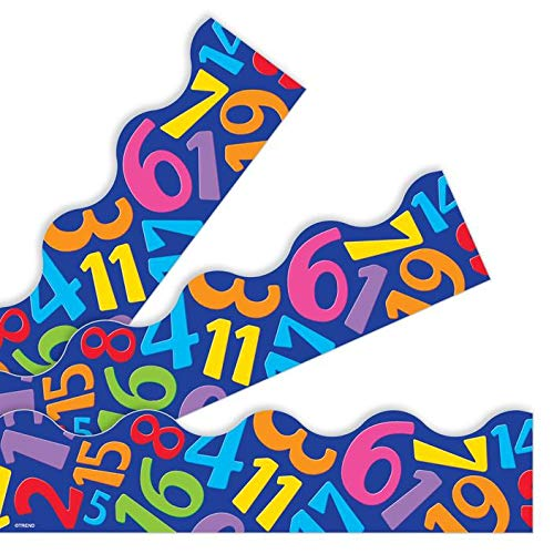 Math Number Tumble Classroom Display Trim//Borders 11.8 meters Great For Notice Boards