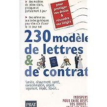230 MODÔLES DE LETTRES ET DE CONTRATS DITION 1998