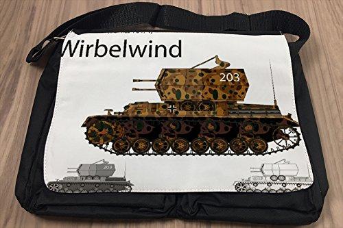 Umhänge Schulter Tasche Militär Panzer SdKfz 161 bedruckt