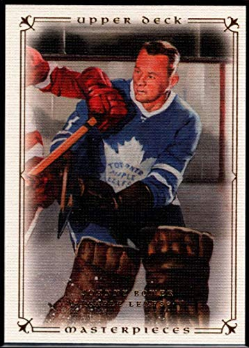 Hockey NHL 2008-09 Upper Deck Masterpieces #51 Johnny Bower Maple Leafs