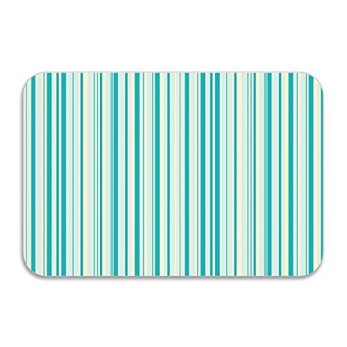 (SHUANGRENDE Personalized Green Stripe Doormat Entrance Mat Floor Rug Indoor/Bathroom Mats)