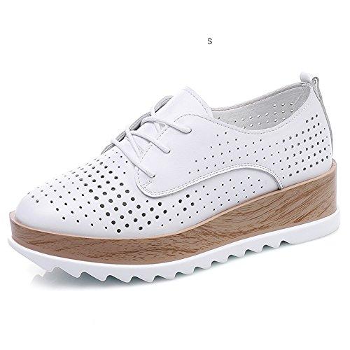 De Blanca Coreana Suela mujer Zapatos Versión Primavera Gruesa w4PqUpvng