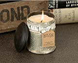 Himalayan Candles Spice Tin Soy Candle, Bourbon Vanilla, 10-Ounce