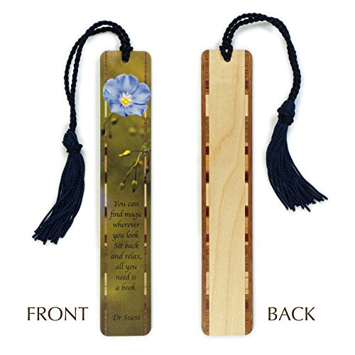 Dr Seuss Bookmark (Dr. Seuss Quote - Reading - Photograph at Bridger-Teton National Forest - Color Wooden Bookmark with)