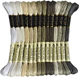 14 Skeins Rainbow Color Embroidery Floss - Cross