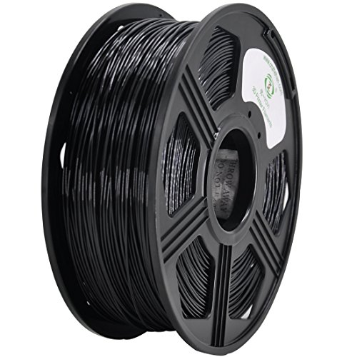YOYI 3D PETG 1KG 1.75mm Black PETG 3D Printer Filament, Diameter Tolerance +/- 0.05 mm, 1 KG Spool, 1.75 mm, Black