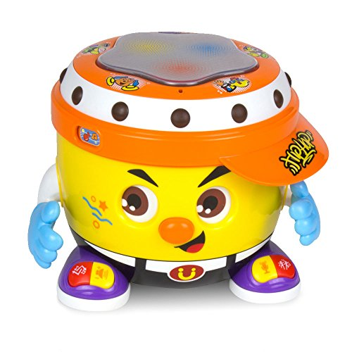 Woby Multifunctional Musical Learning DJ Drum with Light and Development Dance Musical Voice Recording Educational Gift