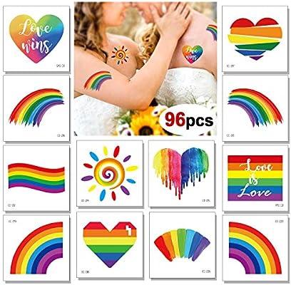 Konsait 96 hojasorgullo gay accesorios Lgbt Tatuajes temporales ...