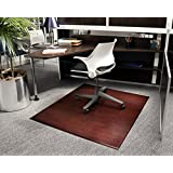 Bamboo Tri-Fold Plush Chairmat, 47   x 60  , no lip