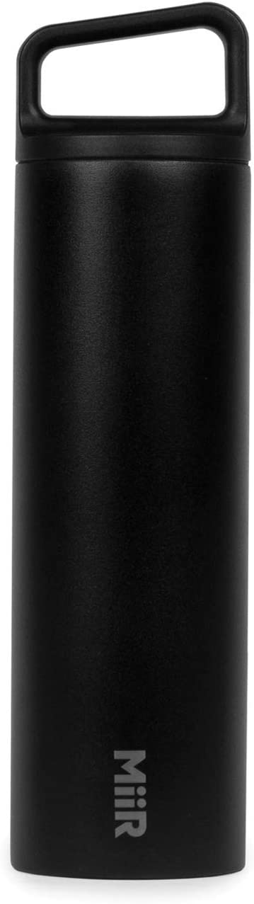 MiiR Insulated Wide Mouth Bottle with Leak-Proof Screw Top Lid - 20oz - Black
