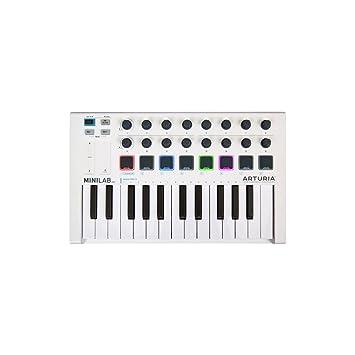 Minilab MK II controlador MIDI 25 teclas 16 Universal Pad RGB Comandos: Amazon.es: Electrónica