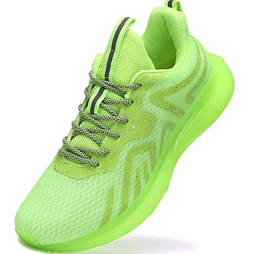 Mens Tennis Shoes Outdoor Running Jogging Walking Gym Workout Shoes Men Fashion Sneakers Size 9.5 Green