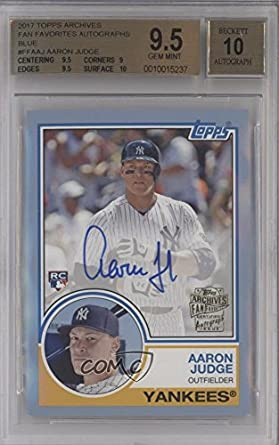 Aaron Judge BGS GRADED 9.5 #/75 (Baseball Card) 2017 Topps Archives - Fan Favorite Autographs - Light Blue #FFA-AJ
