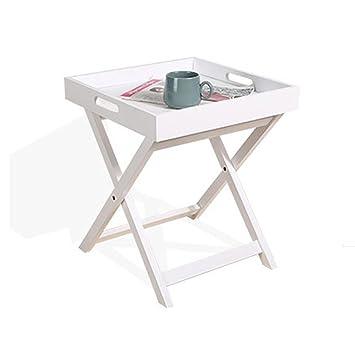 YANGZ Table Basse Pliante En Bois, Multifonction Carré Petite Table ...
