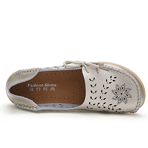dd2f82549b0d CIOR Women s Genuine Leather Loafers Casual Moccasin Driving Shoes Indoor  Flat Slip-on Slippers