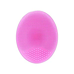 Action Pro Cleaning Pad Wash Face Facial Exfoliating Brush SPA Skin Scrub Cleanser Tool Face Massager (Pink)