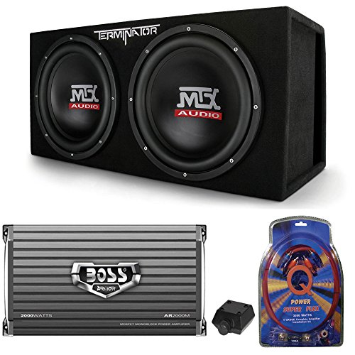 MTX TNE212DV 12-Inch 2000W Dual Loaded Subwoofers Audio with