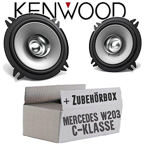 JUST SOUND best choice for caraudio Lautsprecher Boxen Kenwood KFC-S1356-13cm Koax Auto Einbauzubeh/ör Einbauset f/ür Mercedes C Lasse W203 Heck