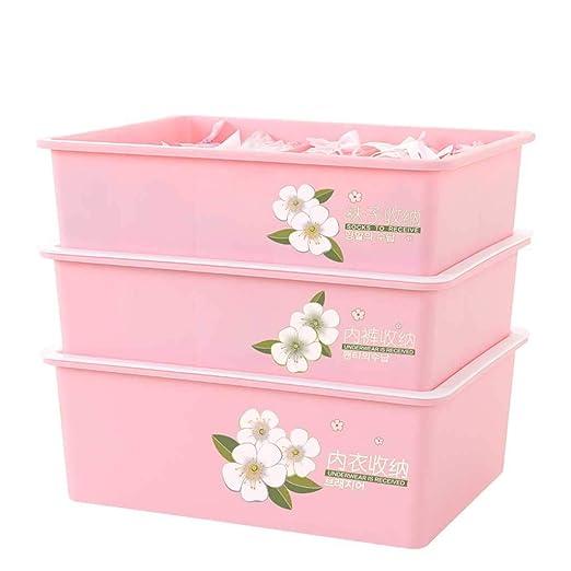 caja de almacenamiento Ropa interior rectangular de tres piezas de ...