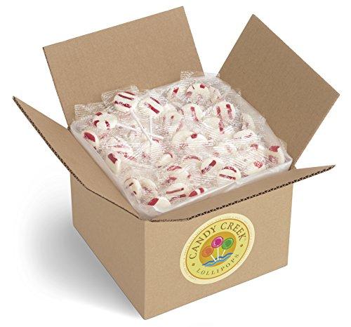 Zany Cane Peppermint Lollipops by Candy Creek, Bulk 5 lb. Carton by Candy Creek Lollipops